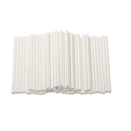Cake Pop Sticks - 300-Count 4-Inch Paper Treat Sticks for Lollipops, Candy Apples, Suckers,