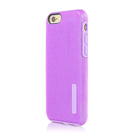 iPhone 6S Case, Incipio DualPro Glitter Case [Shock Absorbing] Cover fits Both Apple iPhone 6, iPhone 6S - Purple - image 1 of 3