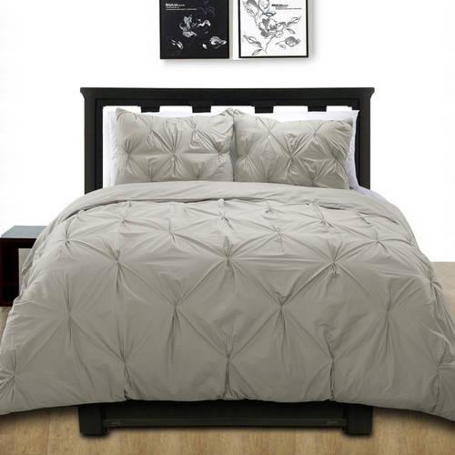 100 Percent Cotton 240-Thread-Count Pintuck Duvet Cover Mini Set