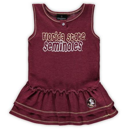 Florida State Seminoles Colosseum Girls Toddler Bonn Henley Dress - Garnet - Garnet Hill For Kids
