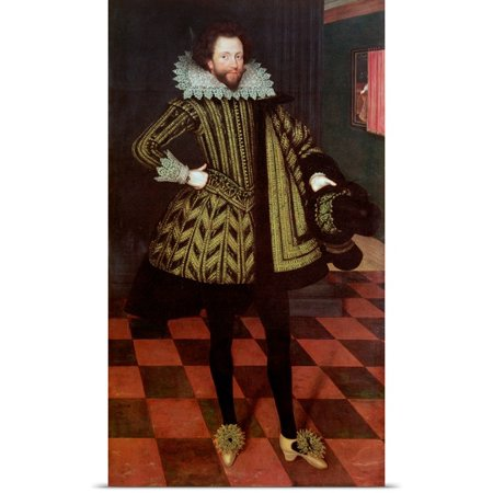 Great Big Canvas Marcus  1561 1635  Gheeraerts Poster Print Entitled Sir John Kennedy Of Barn Elms  1614