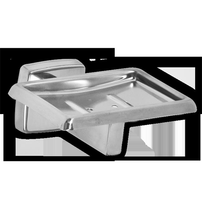AJW UX122-SF Satin Soap Dish With Drainage Holes - Surface Mounted