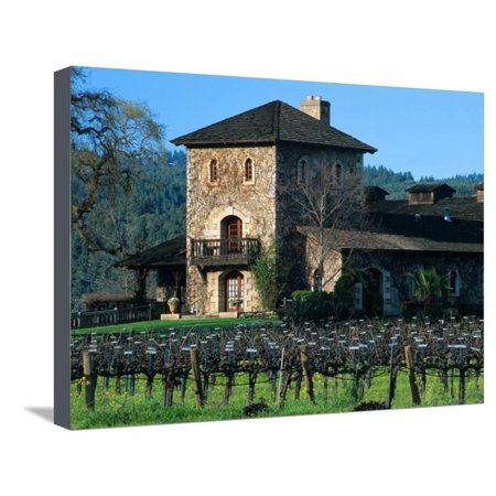 V Sattui Winery and Vineyard in St. Helena, Napa Valley Wine Country, California, USA Stretched Canvas Print Wall Art By John Alves
