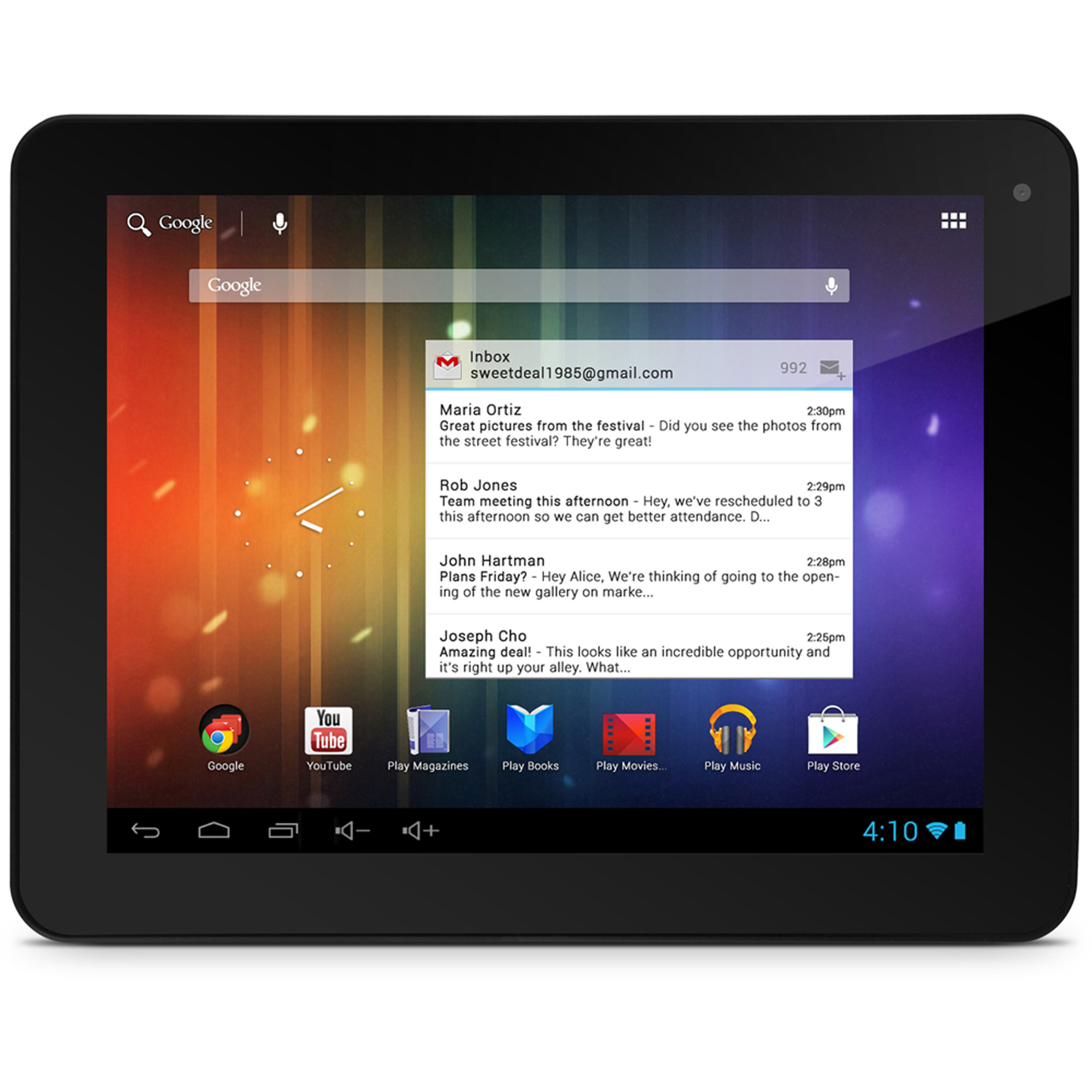 """Ematic Pro Series EGP008 with WiFi 8"""" Touchscreen Tablet PC with Android 4.1 (Jelly Bean) Operating System"""
