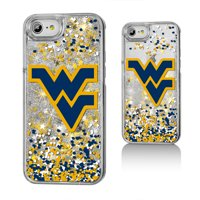 WVU West Virginia Mountaineers Confetti Glitter Case for iPhone 8 / 7 / 6