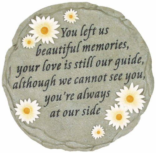 Inspirational Text Painted Beautiful Memories Stepping Stone Great Home Decor by
