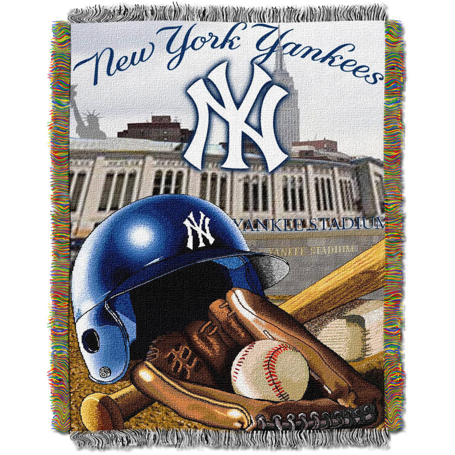 """MLB 48"""" x 60"""" Home Field Advantage Series Tapestry Throw, Yankees"""