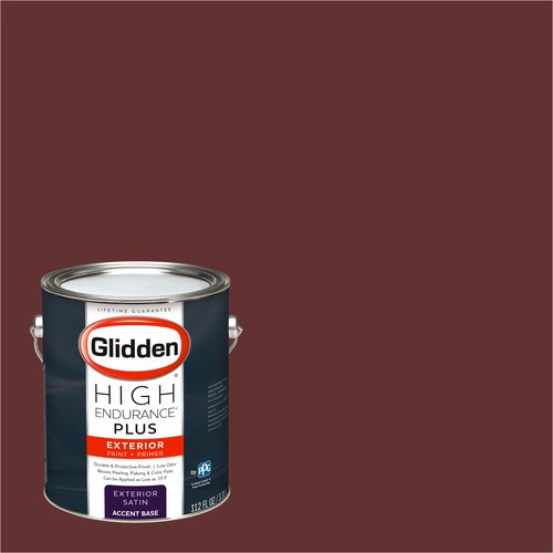 Glidden High Endurance Plus Exterior Paint and Primer, Classic Burgundy, #09YR 05/305