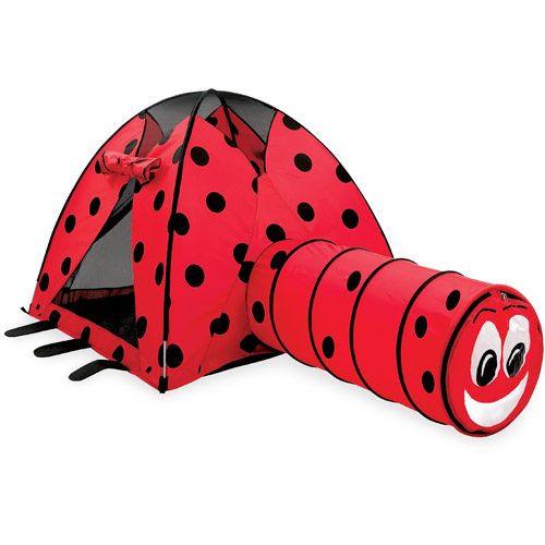 Ladybug Tent and Tunnel Combination