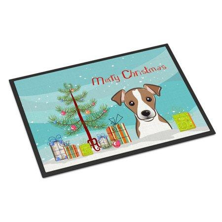 Christmas Tree and Jack Russell Terrier Door Mat