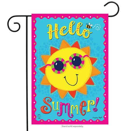 Hello Summer Sun Garden Flag Sunshine Sunglasses 12.5