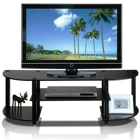 Furinno 11058EX/BK Turn-S-Tube Wide TV Entertainment Center, Espresso/Black - image 1 of 1