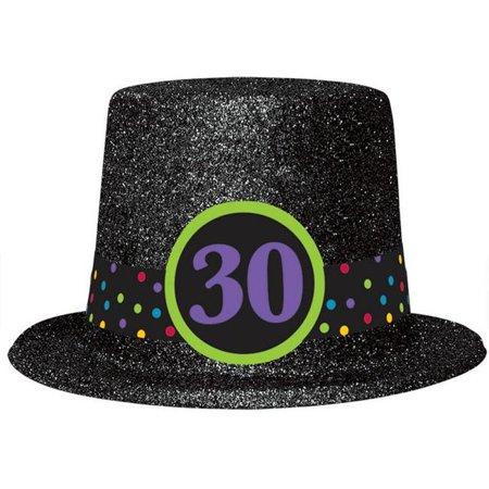 Amscan 250393 30Th Birthday Glitter Top Hat