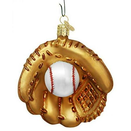 Old World Christmas Baseball Mitt Glass Ornament 44027 Ball Decoration FREE BOX - Baseball Christmas