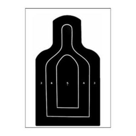 US Dept. of Defense M9 25-Meter E-Type Silhouette Target  Pack of 25 (M9 Target)