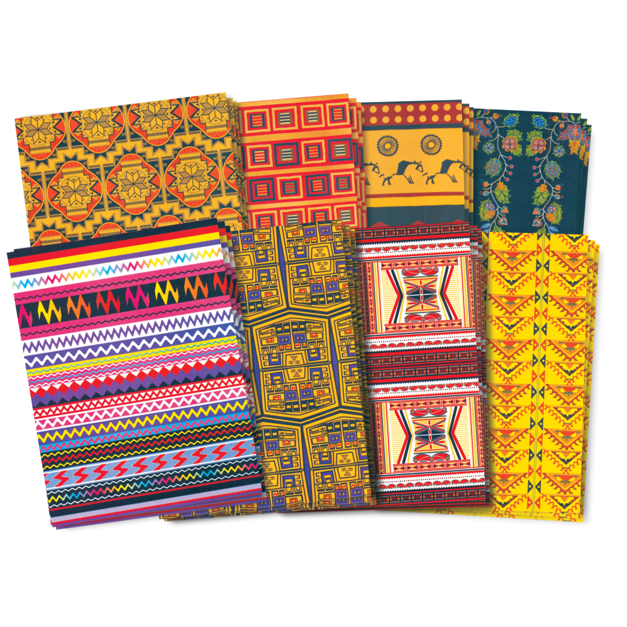 Roylco® Native American Craft Paper, 32 sheets/pkg, Set of 3 packs