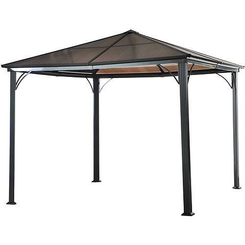 Sunjoy Bently Polycarbonate Top Gazebo, Black