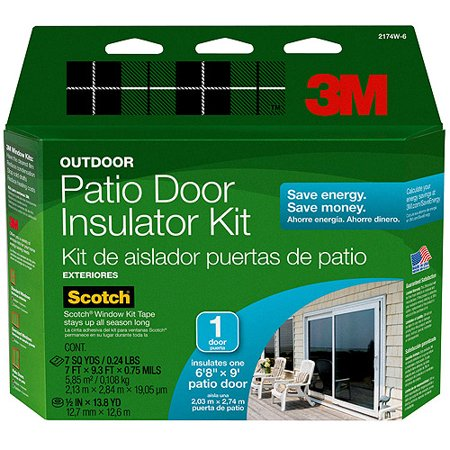 3m outdoor window insulator kit patio door for Window insulation kit