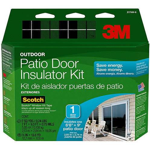 3M Outdoor Window Insulator Kit, Patio Door