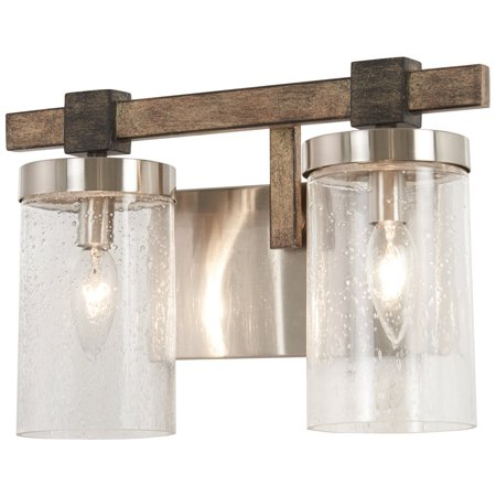 Minka Lavery Bridlewood 2 Light Bath - Stone Grey W/Brushed Nickel - (Magma Nickel Two Light)