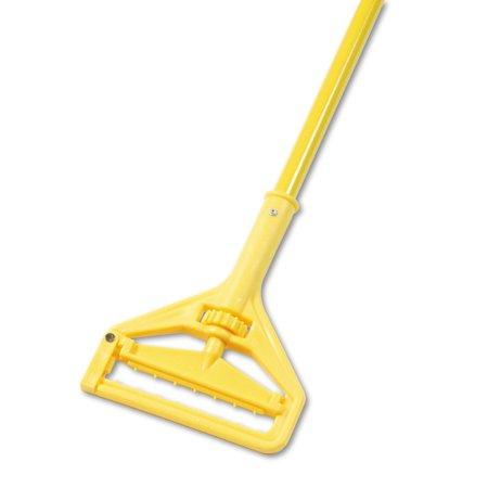 "Boardwalk Quick Change Side-Latch Plastic Mop Head Handle, 60"" Aluminum Handle, Yellow -BWK620"