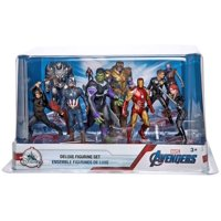 Marvel Avengers Endgame 9-Piece Deluxe PVC Figure Play Set [Captain America, Iron Man, Thor, Hulk, Black Widow, War Machine, Thanos, Nebula, Hawkeye & Ant-Man]