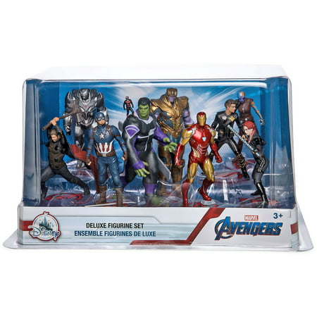 Marvel Avengers Endgame 9-Piece Deluxe PVC Figure Play Set [Captain America, Iron Man, Thor, Hulk, Black Widow, War Machine, Thanos, Nebula, Hawkeye & - Black Widow From The Avengers