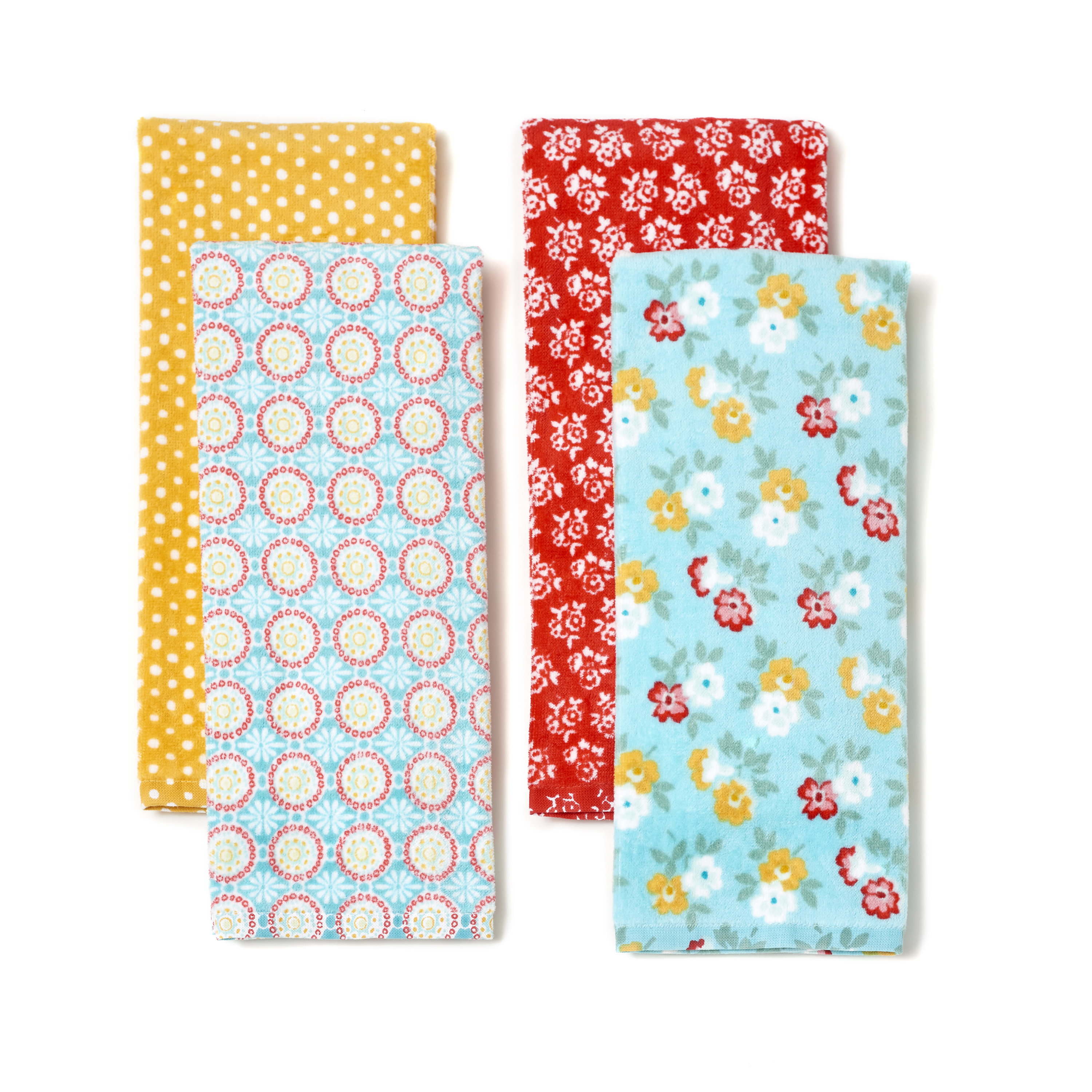 The Pioneer Woman Spring Floral 4 Pack Kitchen Towels
