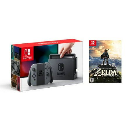 Nintendo Switch Console with Gray Joy-Con Zelda