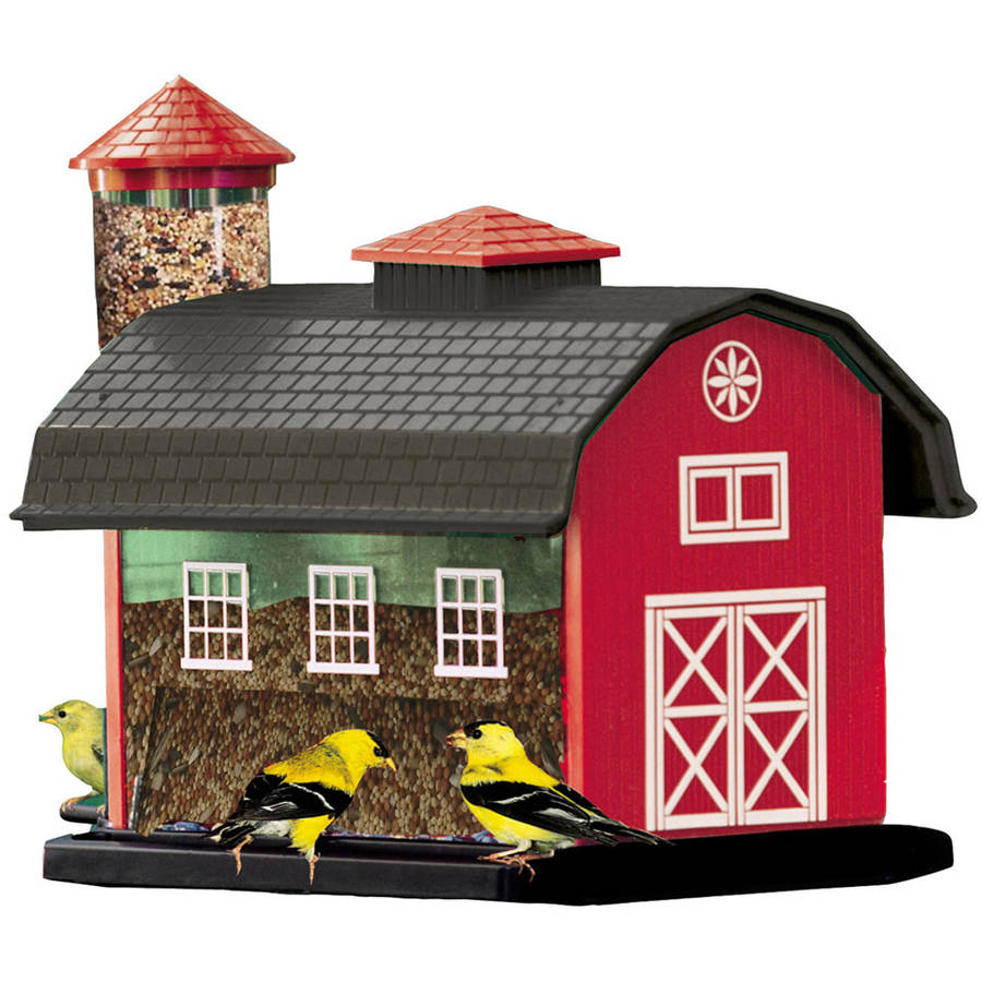 Audubon 6290 7 Lb Capacity Red Barn Combination Birdfeeder by Akerue Industries L & G