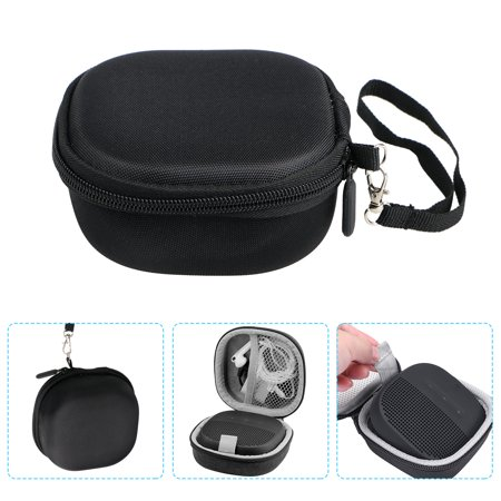 Travel Case for boses SoundLink Micro Bluetooth Speaker, TSV Portable Shockproof Hard Travel Storage Carrying Case with Mesh Pocket & Hand Strap,