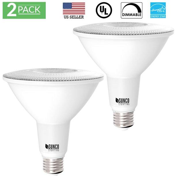 Sunco Lighting 2 Pack Par38 Led Light