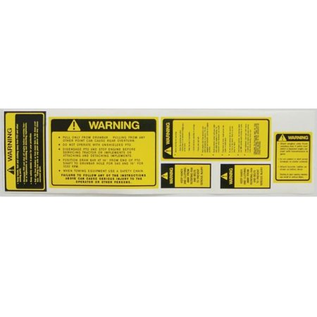- Safety Warning Decal Set Made for Ford New Holland Massey Ferguson Allis Chalmers