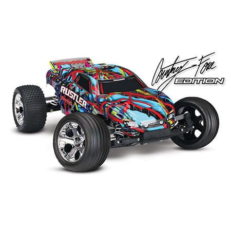 Traxxas 370763T6 1:10 Courtney Force Edition Rustler VXL ...
