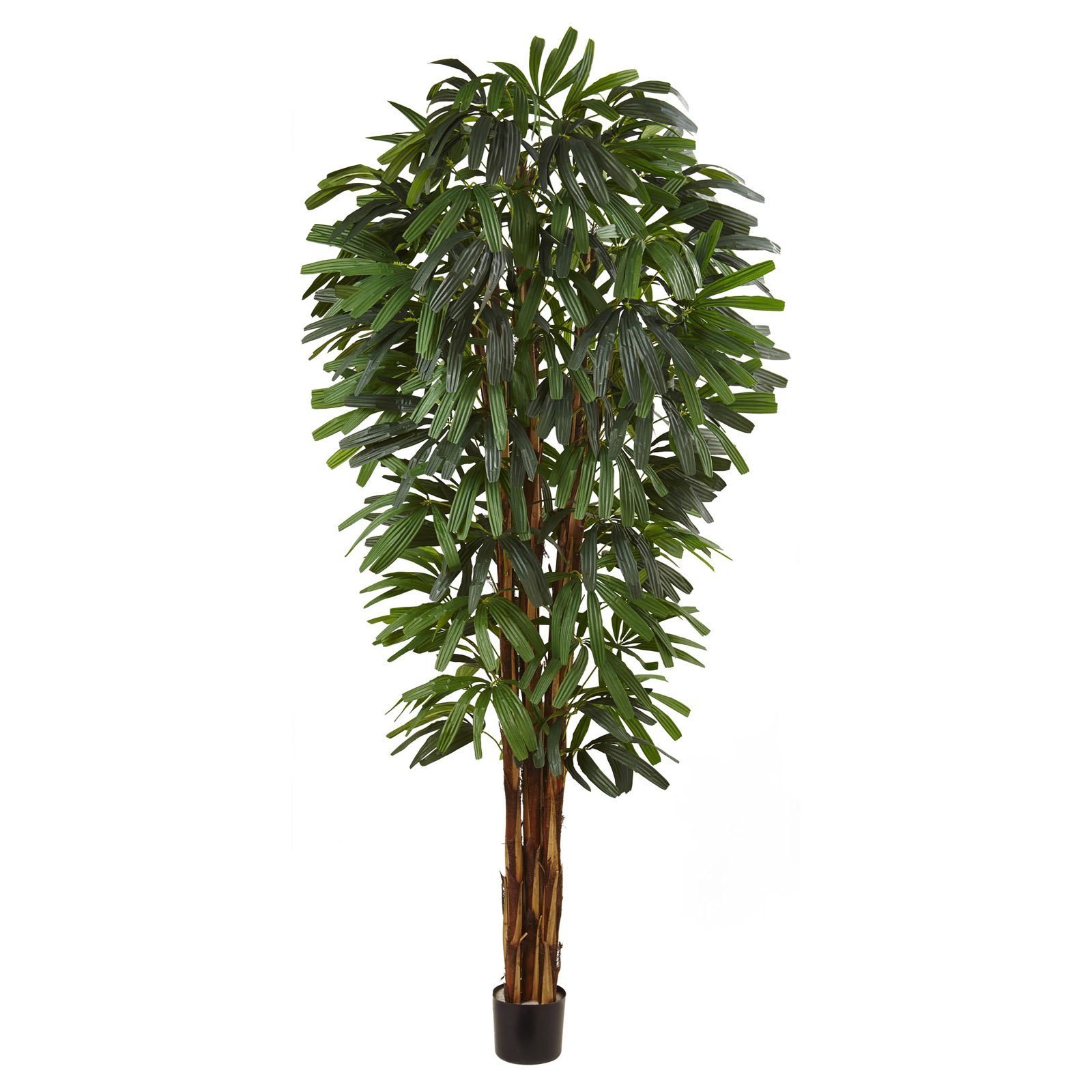 Nearly Natural 7 ft. Raphis Silk Palm Tree