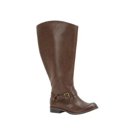 ab58c0171ad Womens Easy Street Quinn Double Wide Calf Harness Boots, Brown Burn