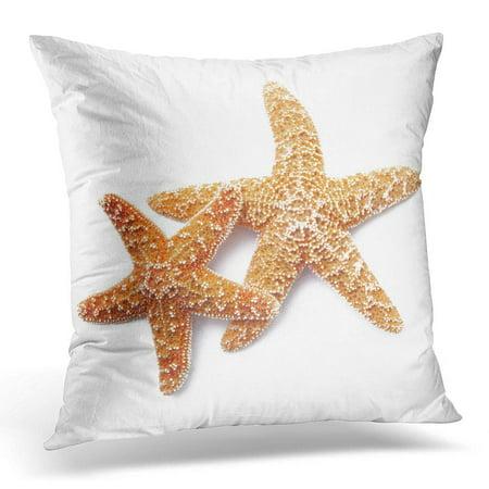 BOSDECO Red Two Starfish on White Conceptual Pillowcase Pillow Cover Cushion Case 20x20 inch - image 1 de 1