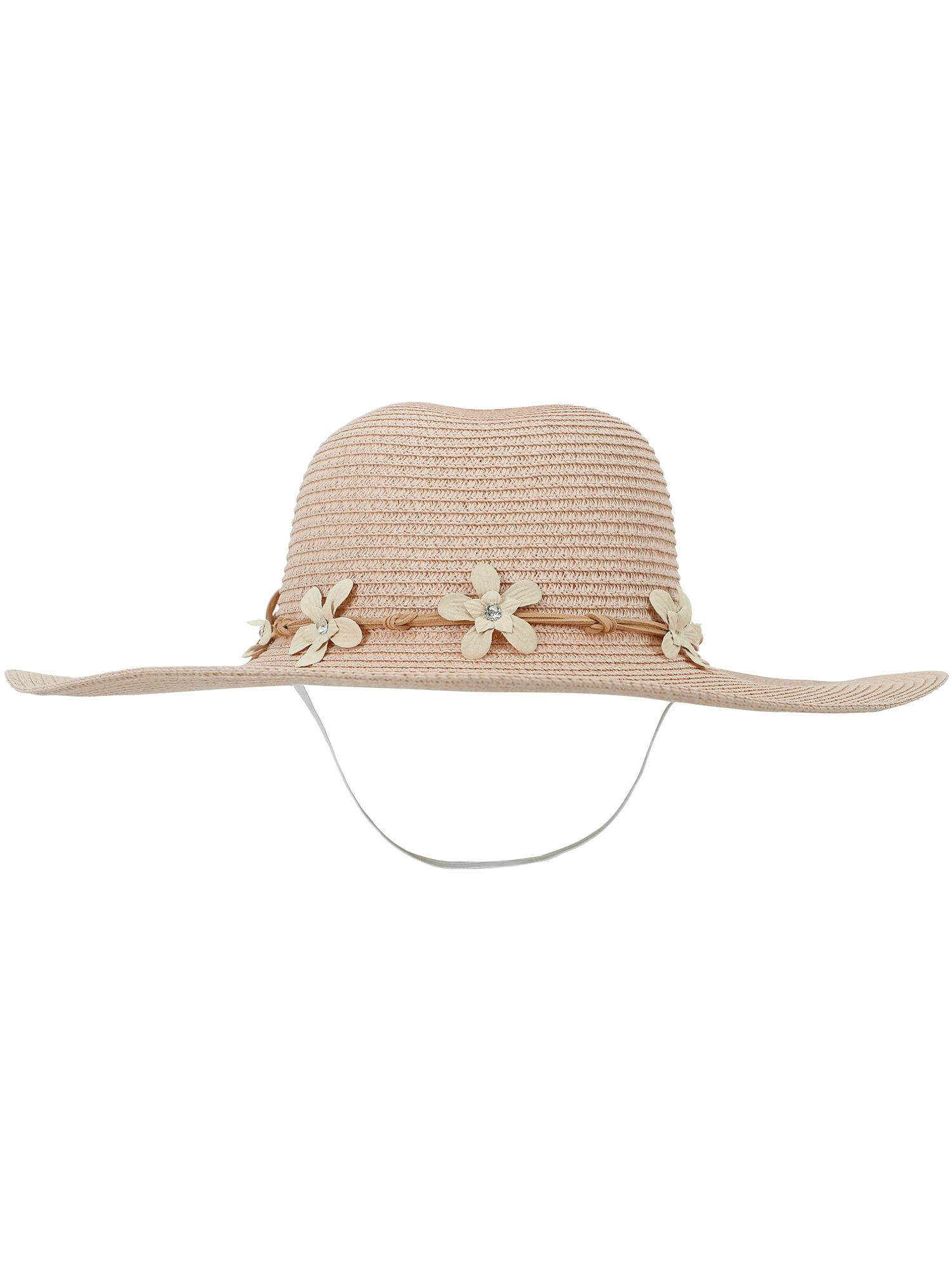 b6b6c99bcf87e6 AshopZ - Women's Summer Wide Brim Straw Sun Hat w/ Chin Strap,Pink -  Walmart.com