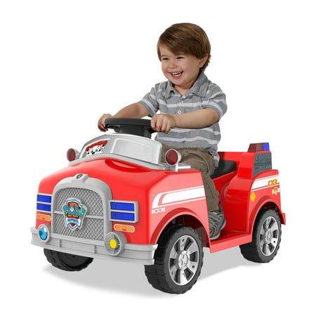 6 Volt Paw Patrol Marshall Quad with Realistic Fire Truck Sounds!