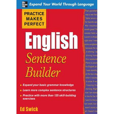 Practice Makes Perfect English Sentence Builder - eBook