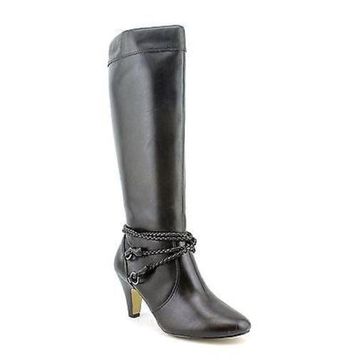 Bella Vita CANDICE II Womens Black Zip Up Fashion Comfort Knee High Heel Boots by