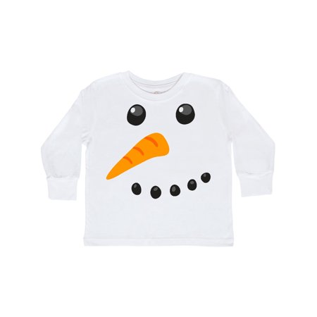 Snowman Face Toddler Long Sleeve T-Shirt
