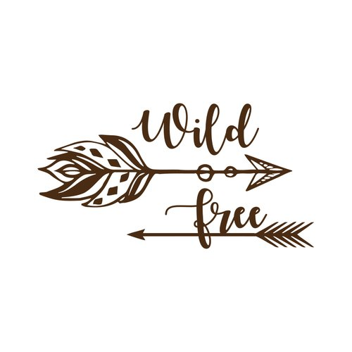 Decal House Wild and Free for Nursery Wall Decal
