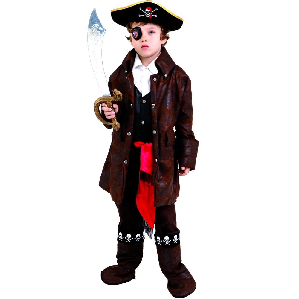 Dress Up America Boys Caribbean Pirate Costume