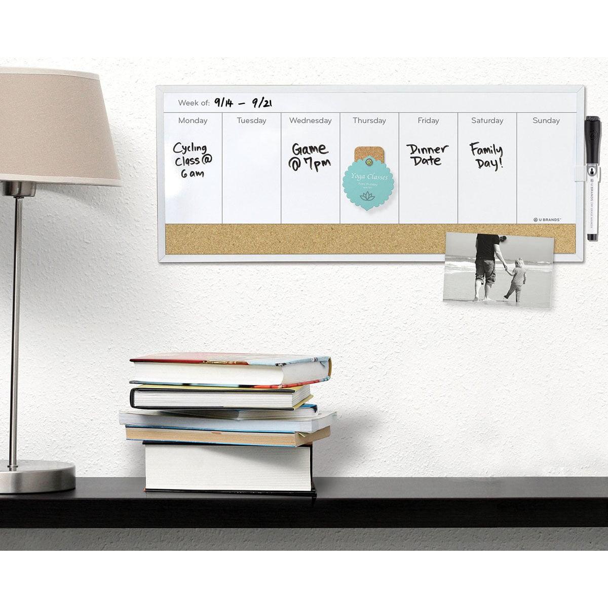 """Frameless Chalkboard Easel 1 Pkg-11""""X15.5"""" by U Brands"""