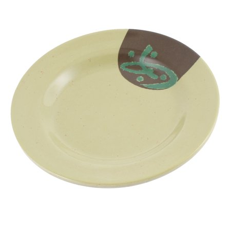 Unique Bargains Round Shaped Character Pattern Pickles Appetizer Food Dish Plate 15cm