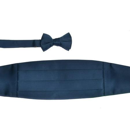 Boys Blue Sapphire Cummerbund Bow-tie Special Occasion Accessories Set