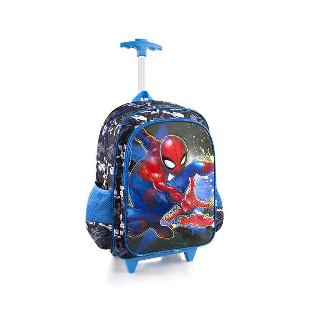 Marvel Spideman Core Rolling Backpack for Kids 18 Inch School Bag with Shoulder Strap by