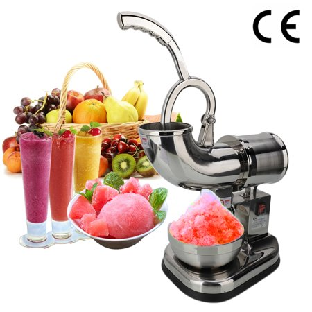 Shaved Ice Machine - ZOKOP Electric Ice Crusher Shaver Machine Snow Cone Maker Shaved Ice Removable Dual Blades