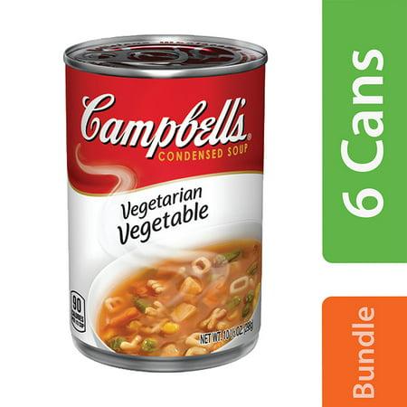(6 Cans) Campbell'sCondensed Vegetarian Vegetable Soup, 10.5